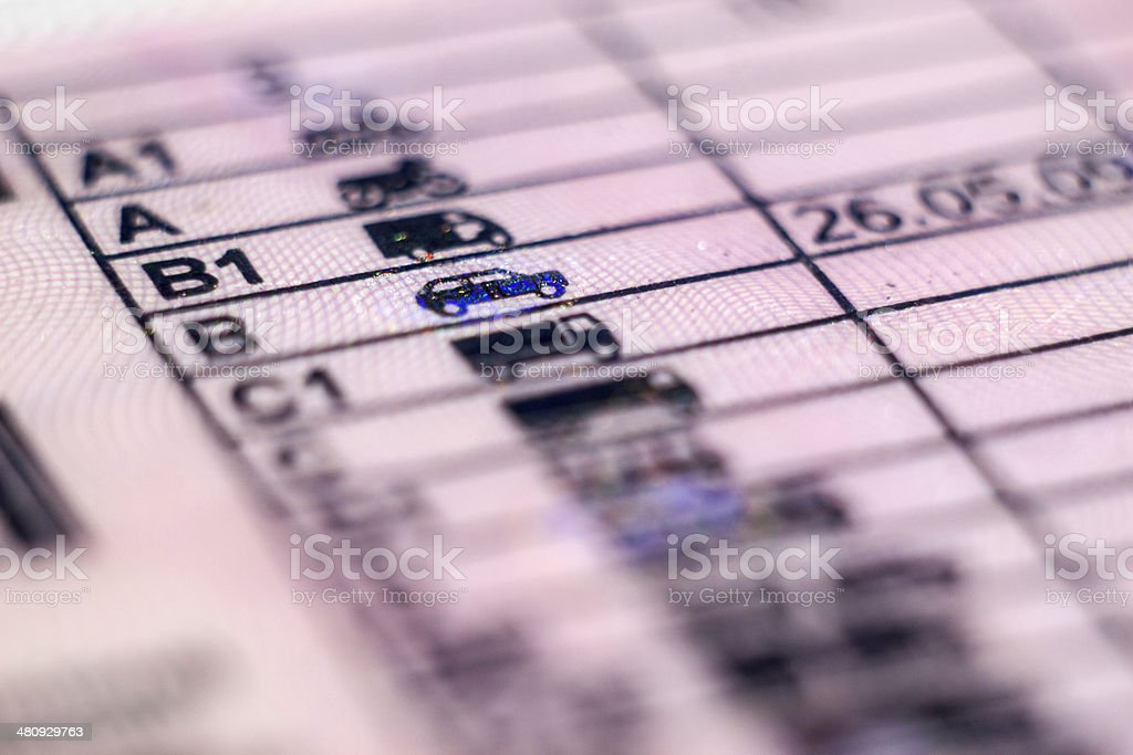 document license in Poland royalty-free stock photo