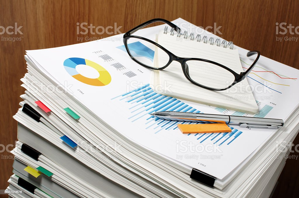 Document management. Paperwork. Business concept. stock photo