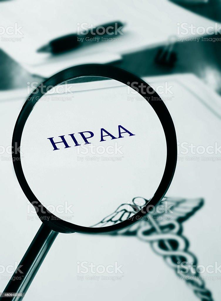 HIPAA document stock photo