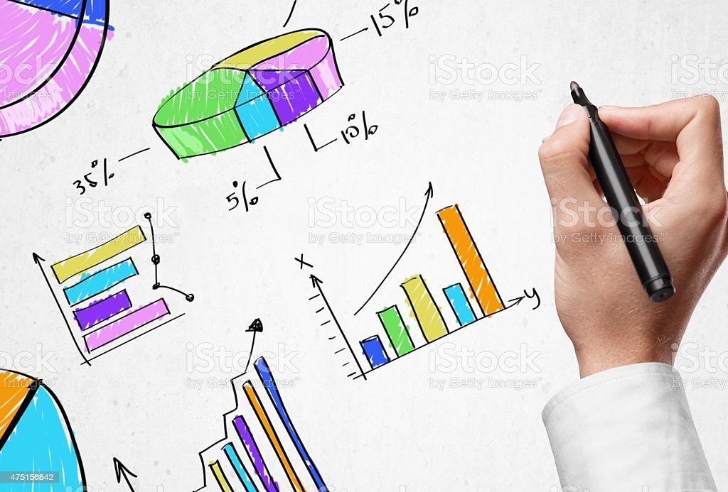 Document, rate, map stock photo