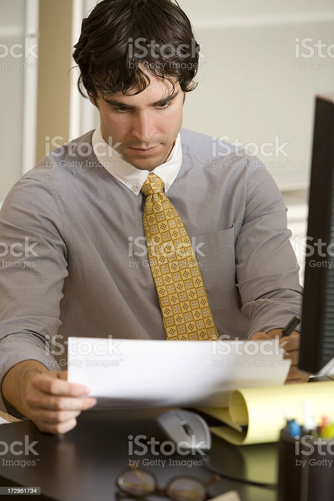 Document Review royalty-free stock photo