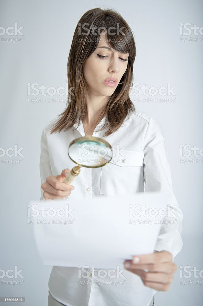 Document scrutiny stock photo