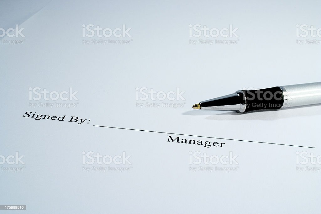 Document Signed By royalty-free stock photo