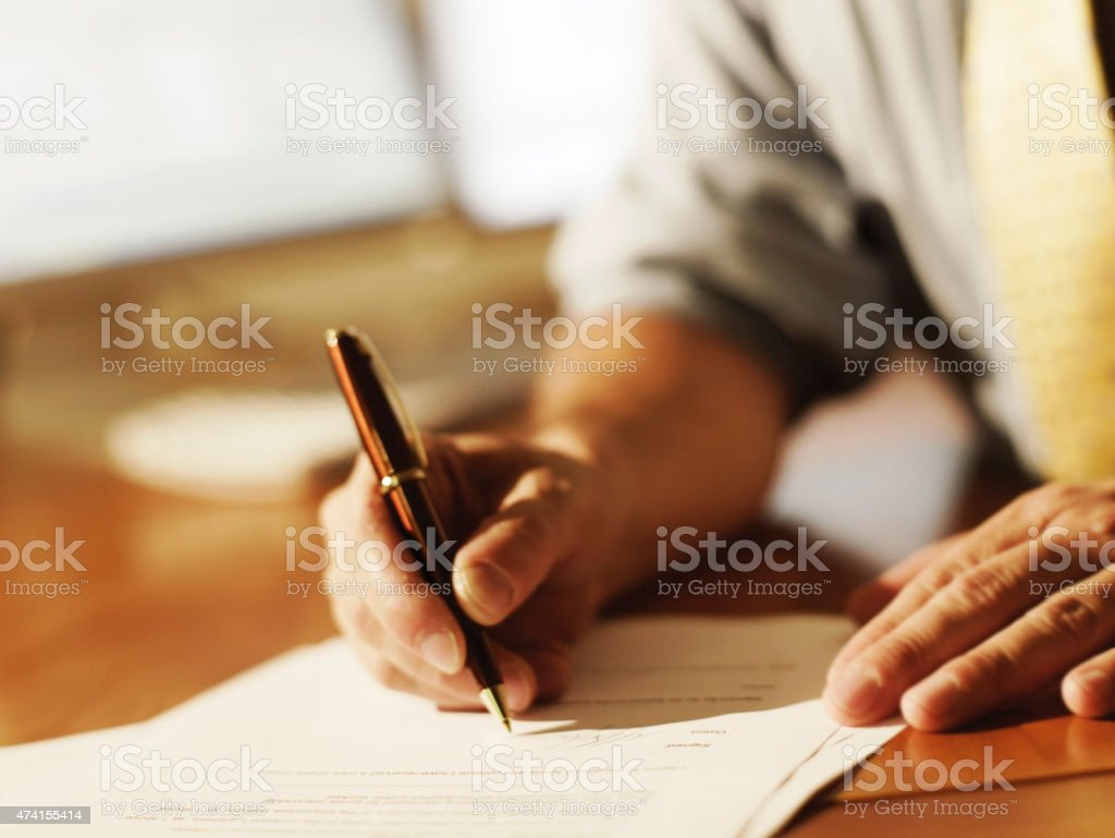 Document Signing stock photo