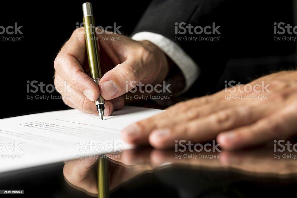 Document signing stock photo