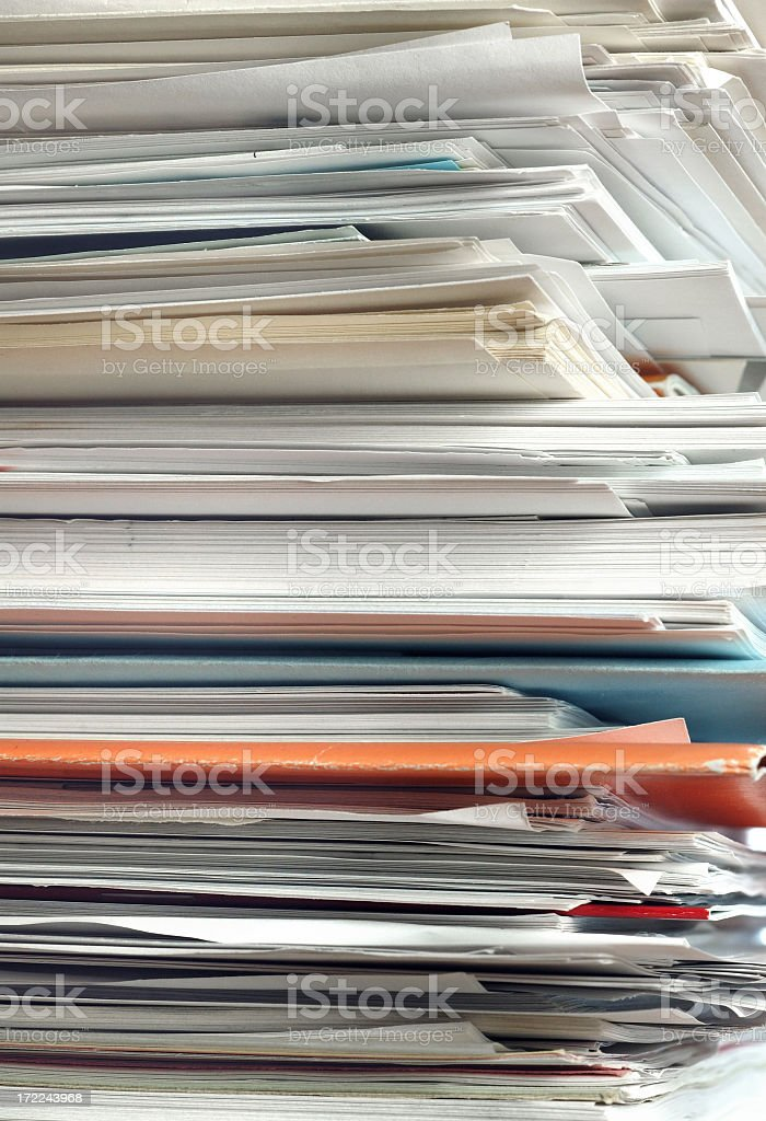 Document stack royalty-free stock photo