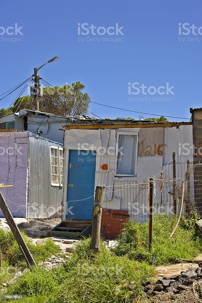 Documentary: Poor township close to Cape Town, South Africa royalty-free stock photo