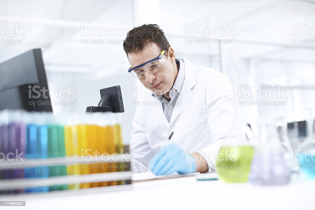 Documenting important research data royalty-free stock photo