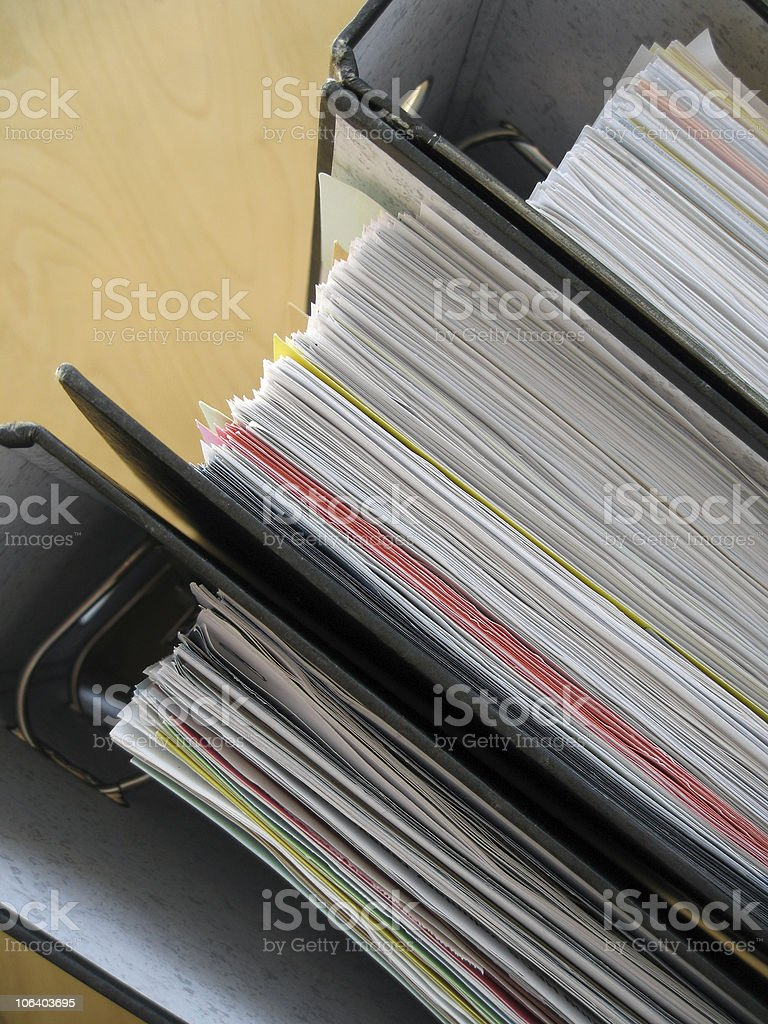 Documents 3 stock photo