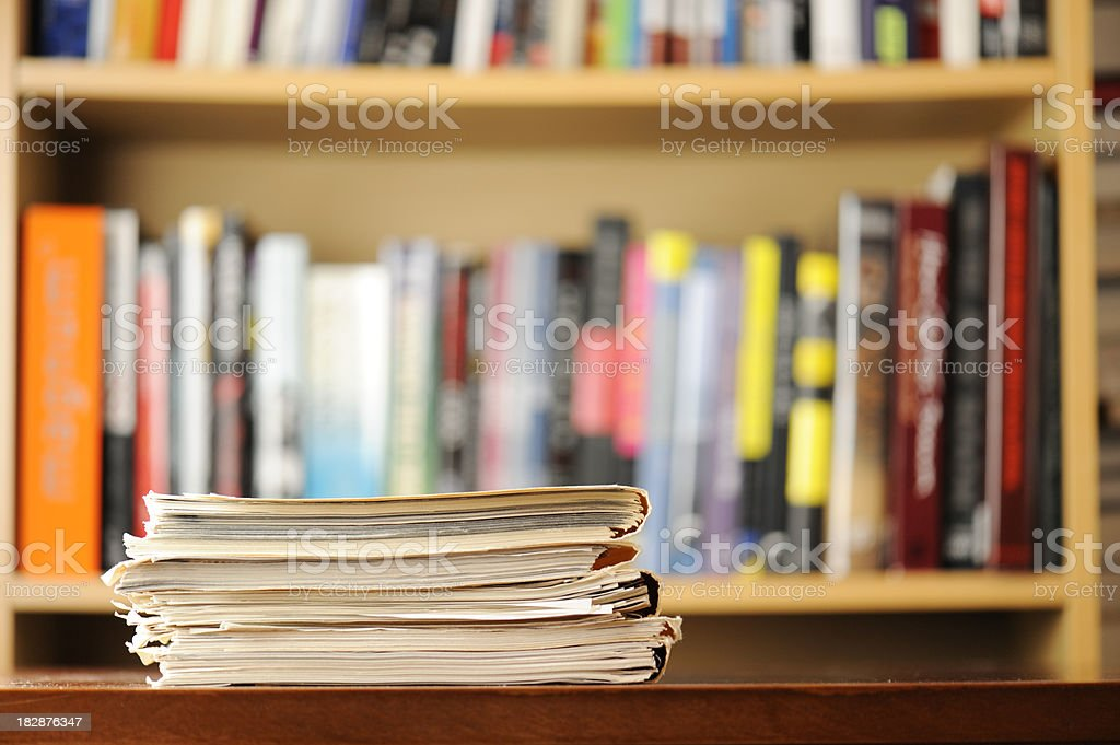 Documents and books royalty-free stock photo