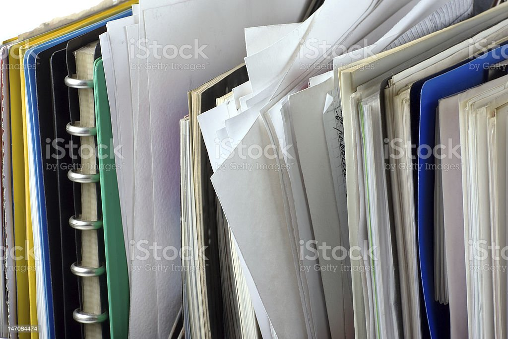 documents and file folders royalty-free stock photo