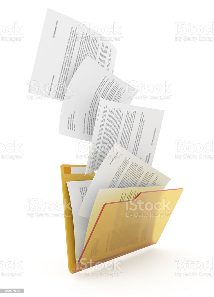 Documents downloading. royalty-free stock photo