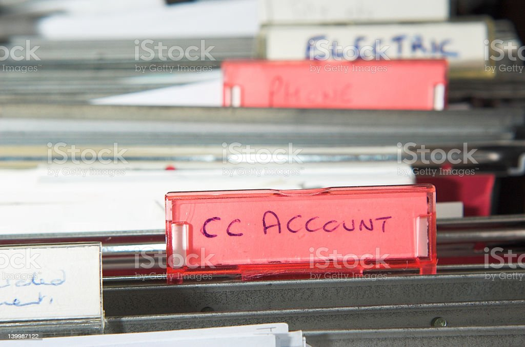 Documents filed stock photo