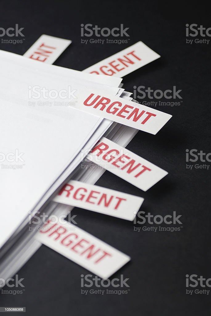 'URGENT' Documents (Portrait) - I need a holiday! royalty-free stock photo