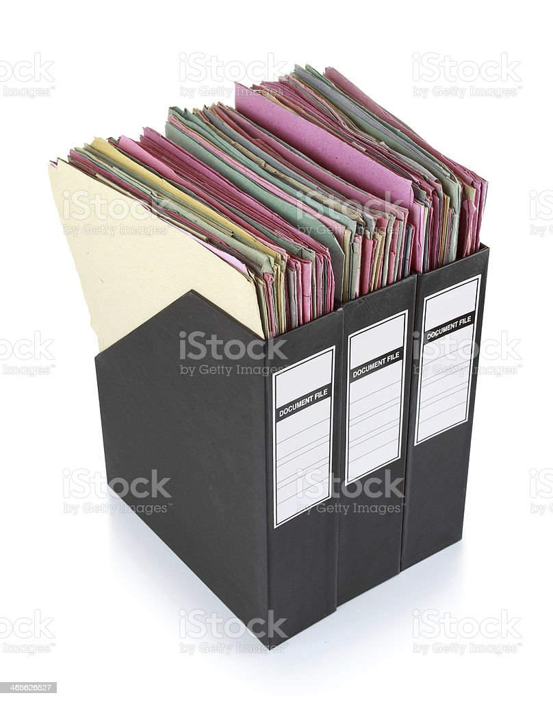 Documents in binders royalty-free stock photo