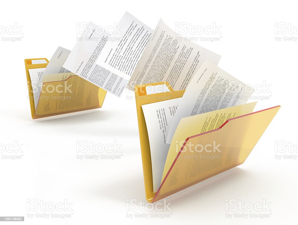 Documents moving. stock photo