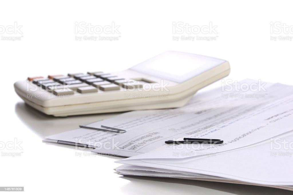 Documents on desk royalty-free stock photo