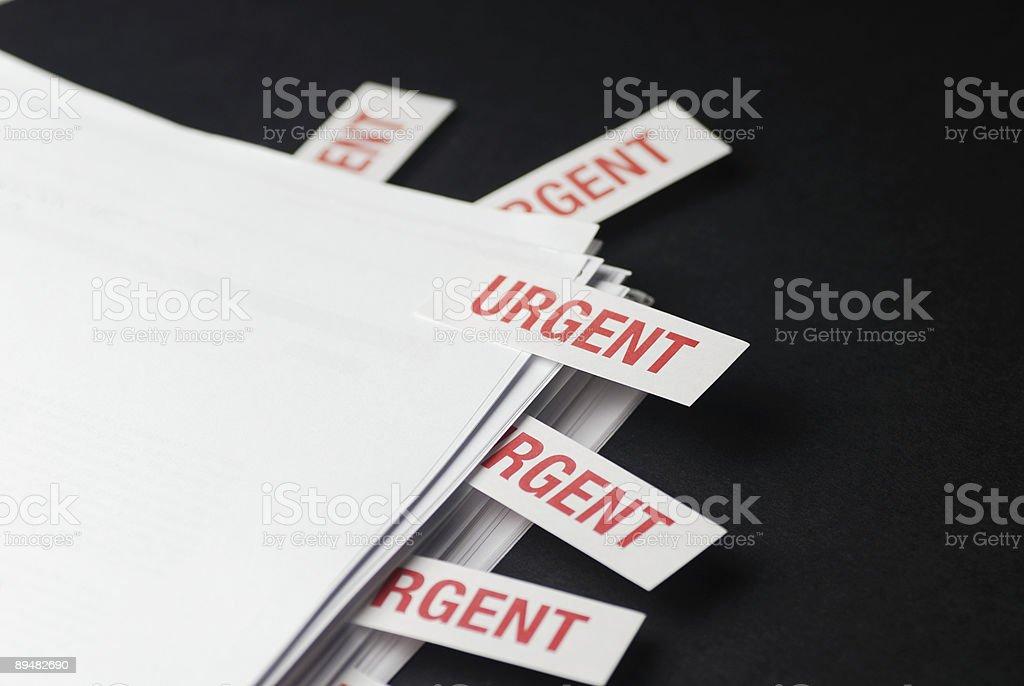 'URGENT' Documents royalty-free stock photo