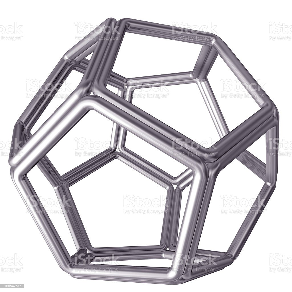 Dodecahedron royalty-free stock photo