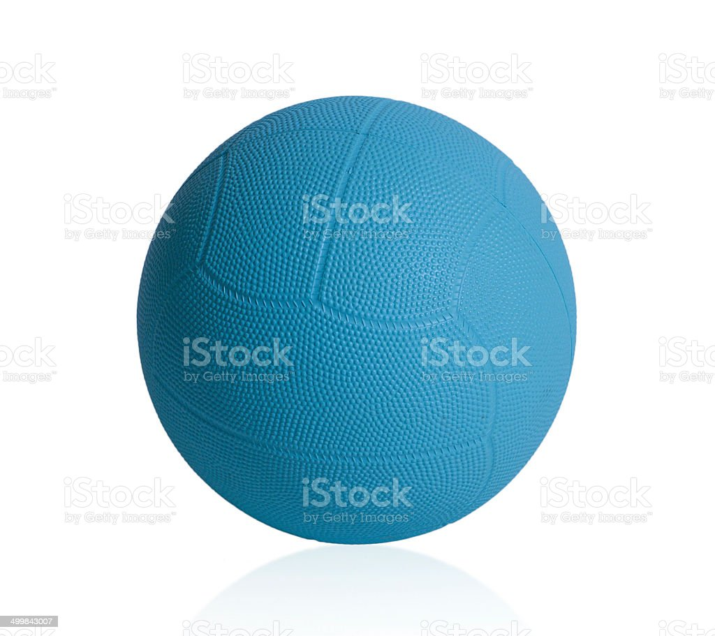 Dodge ball isolated on white stock photo