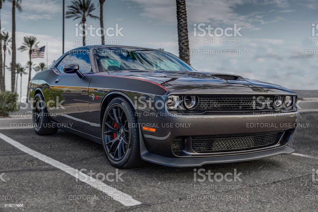 Dodge Challenger Hellcat stock photo