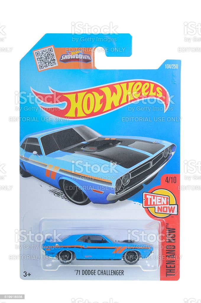 1971 Dodge Challenger Hot Wheels Diecast Toy Car stock photo