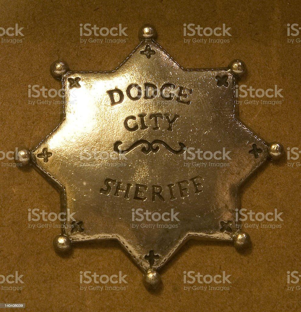 Dodge City Sheriff royalty-free stock photo