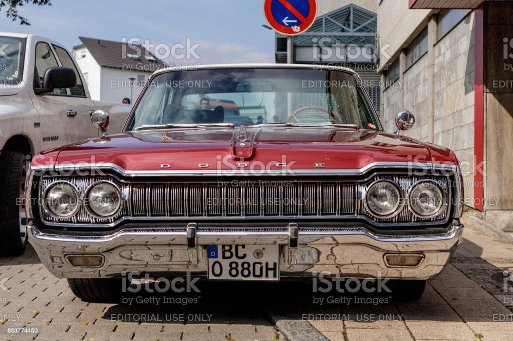 Dodge Custom 880 oldtimer car at the US Car Meeting event on...