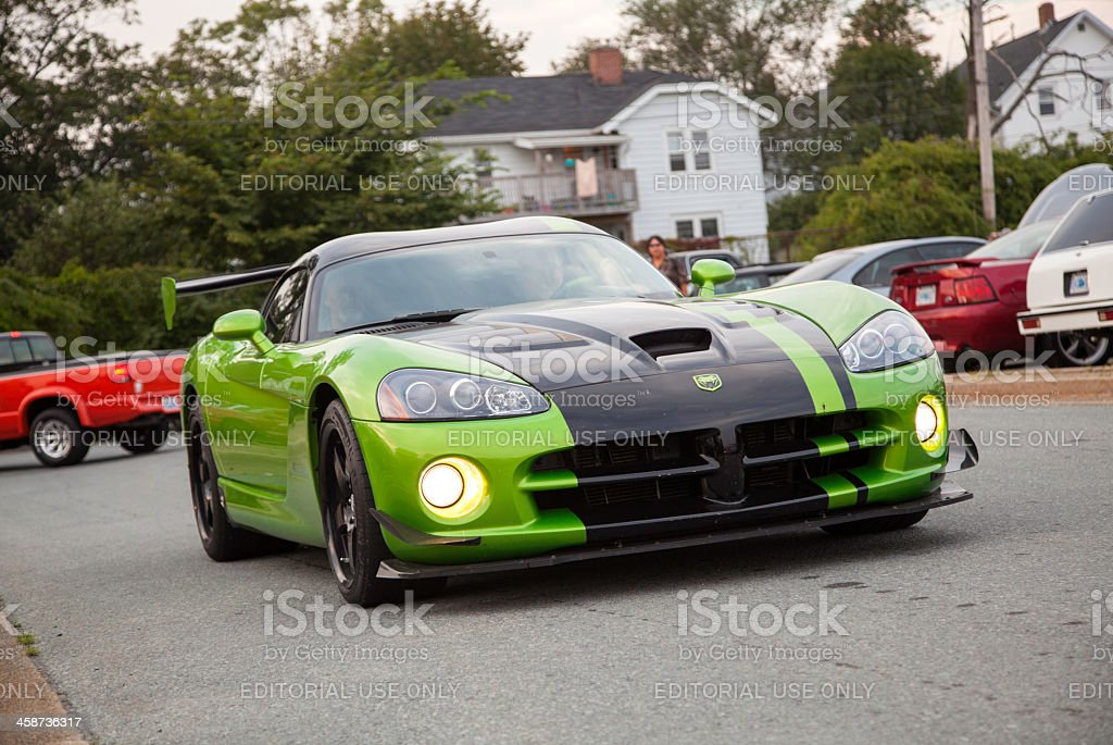 Dodge Viper ACR in Parking Lot stock photo