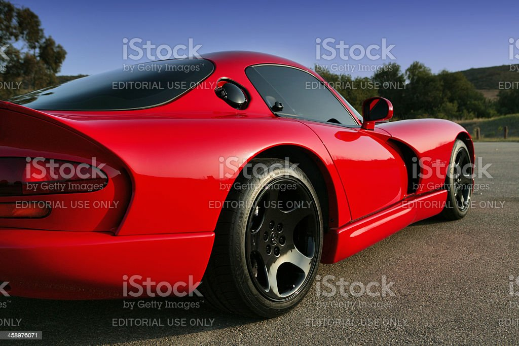 Dodge Viper GTS back/side stock photo