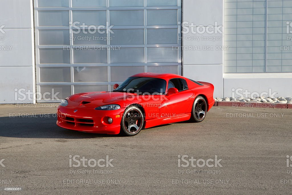Dodge Viper GTS next to building stock photo