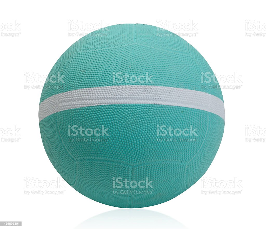 Dodgeball with white stripe isolated stock photo