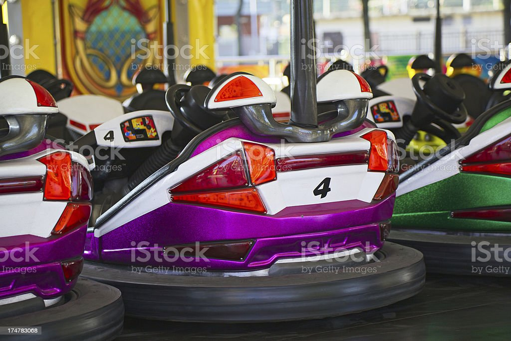 Dodgem at the amusement park royalty-free stock photo