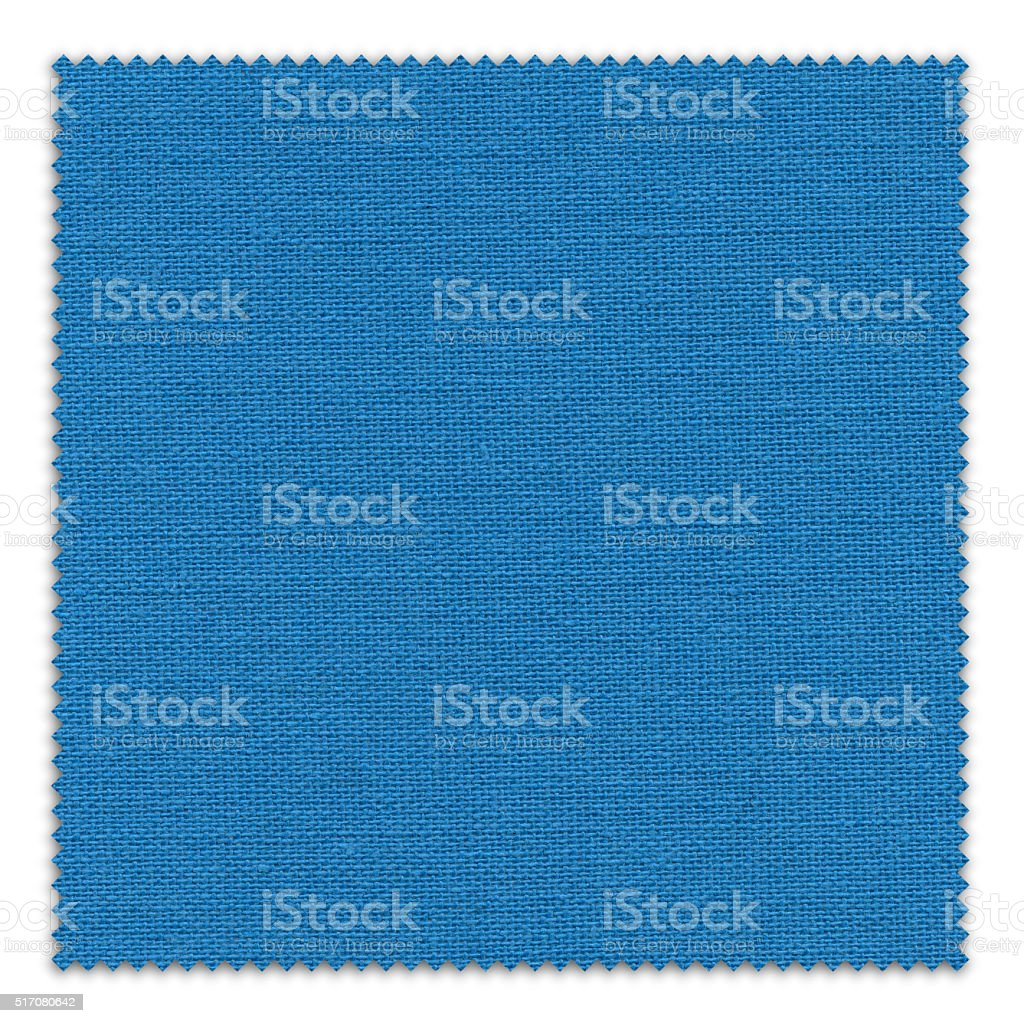 Dodger Blue Fabric Swatch (Clipping Path) stock photo
