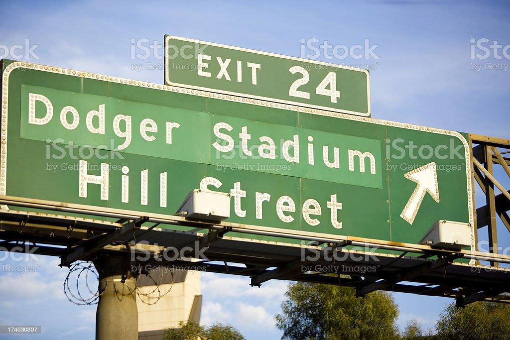 Dodger stadium sign XXXL stock photo