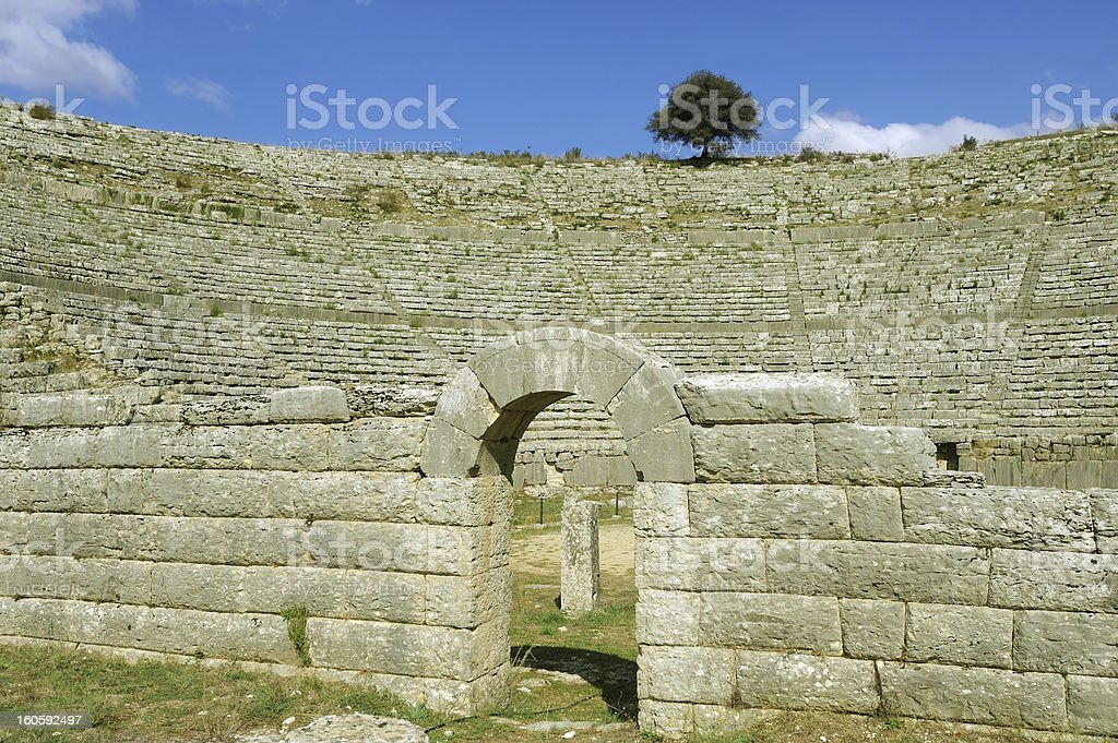 Dodona, ancient Greece oracle site royalty-free stock photo