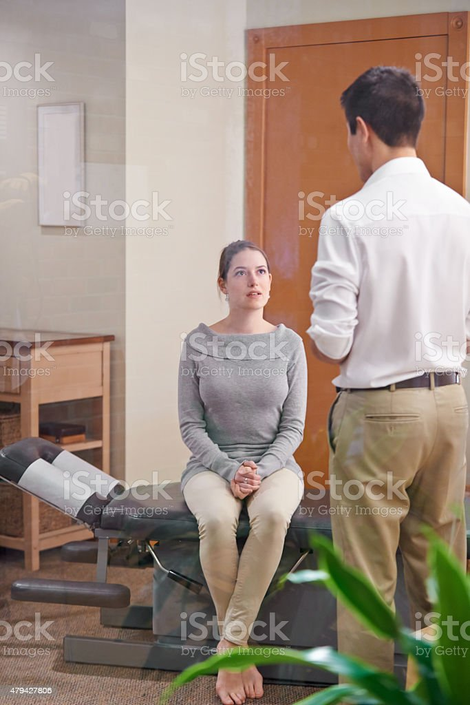 Does it hurt? stock photo