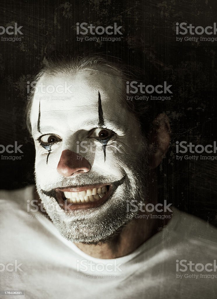 Does this makeup make me look crazy? royalty-free stock photo