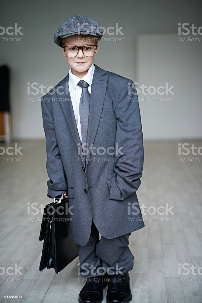 Does this suit fit me? stock photo