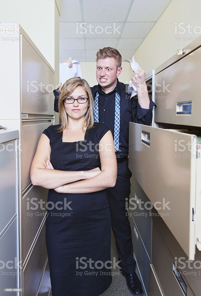 Does Your Co-Worker Drive You Crazy stock photo