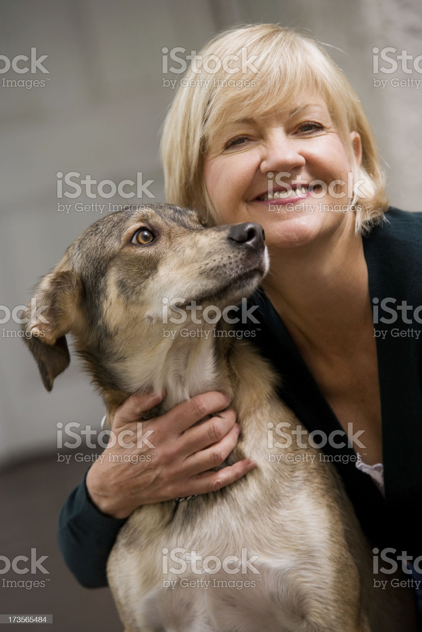 Dog and Woman royalty-free stock photo