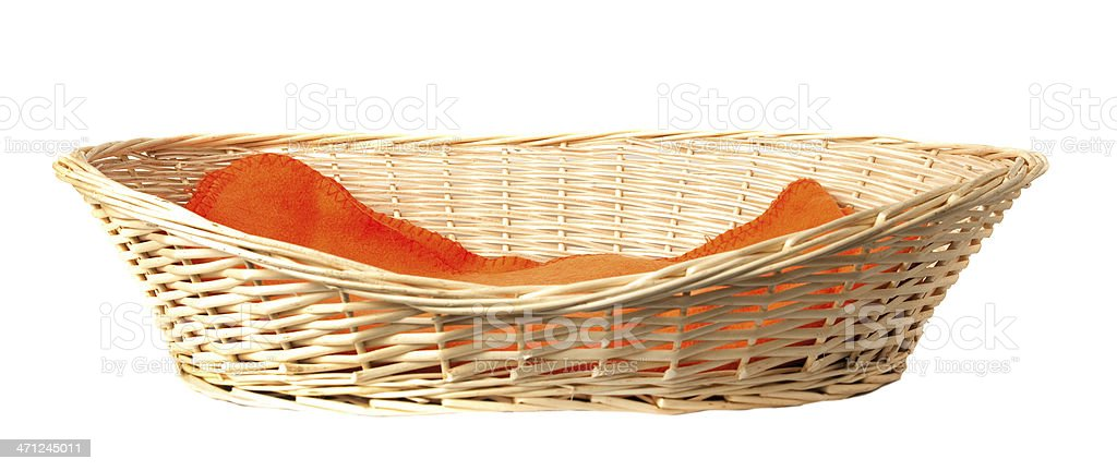 Dog basket. stock photo