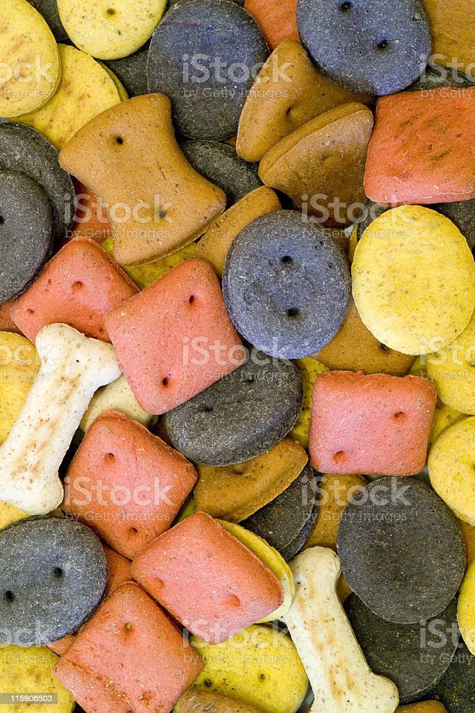 Dog biscuit shapes stock photo