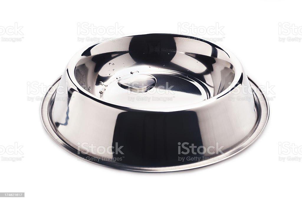 Dog dish on white. royalty-free stock photo