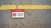 Dog Free Beach Sign Fine Warning