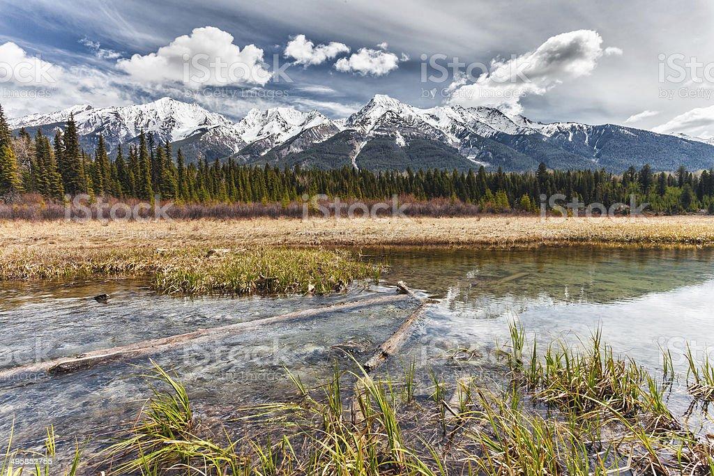 Dog Lake, Kootenay National Park stock photo