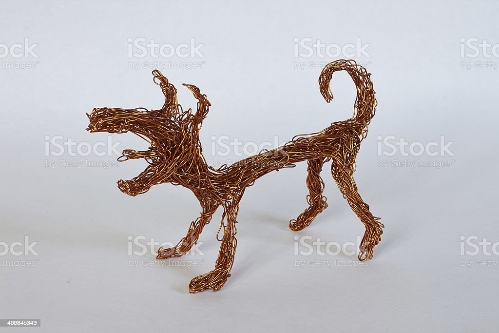 dog made of wire royalty-free stock photo