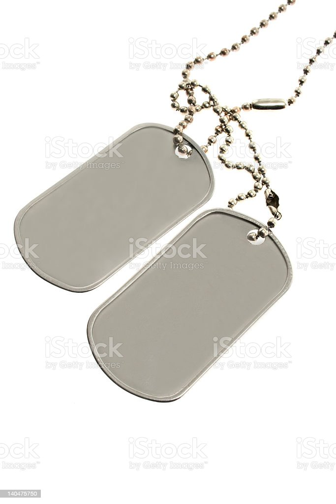 Dog tag isolated on a white background royalty-free stock photo