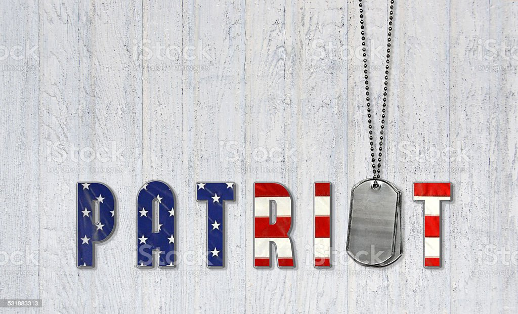 Dog tags for American Patriot stock photo
