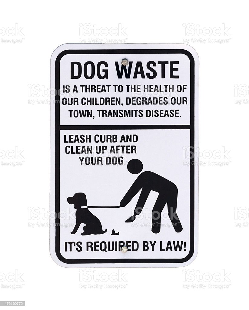 Dog waste sign stock photo